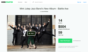 Mint Julep Jazz Band Battle Axe Kickstarter Campaign
